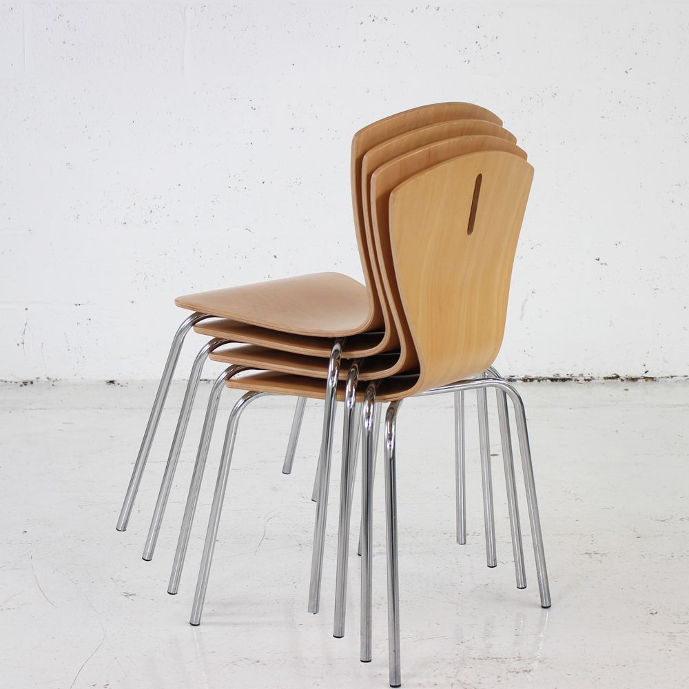 folding chair for office cover rentals windsor ontario stacking wooden canteen | restaurant stackable